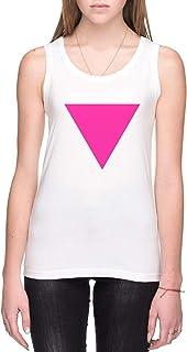 Rosado Triángulo Mujer Camiseta De Tirantes Blanco Todos Los Tamaños Women's Tank T-Shirt White