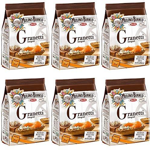 6x Mulino bianco Granetti Vollkorn Knusper Brot für Bruschetta Antipasti 290g