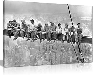 lunch atop a skyscraper superheroes