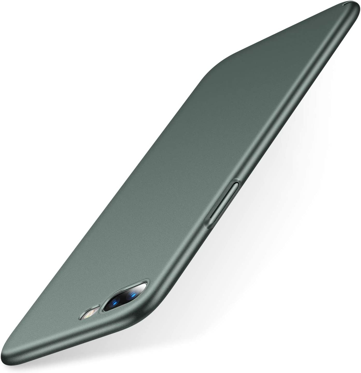TORRAS Slim Fit Compatible for iPhone 8 Plus Case/iPhone 7 Plus Case, Hard Plastic PC Ultra Thin Phone Cover Case with Matte Finish Coating Grip, Midnight Green