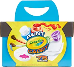 Crayola Paint Caddy, Washable Paints & Painting Supplies, Craft Kit, 75Piece, Gift for Kids