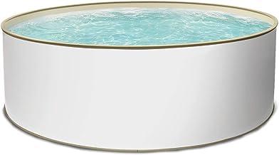 Paradies Pool Aufstellpool Becken Set - Gartenpool mit Stahlwand in rund inkl. hochwertigen Skimmer mit Einlaufdüse & Zubehör 350 x 120
