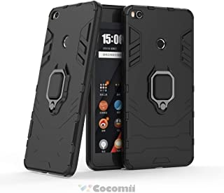 Cocomii Black Panther Armor Xiaomi Mi Max 2 Case NEW [Heavy Duty] Tactical Metal Ring Grip Kickstand Shockproof Bumper [Works With Magnetic Car Mount] Full Body Cover for Xiaomi Mi Max 2 (B.Jet Black)
