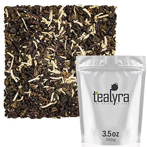 Tealyra - Coconut Milky Oolong - Mix of Fresh Coconut and Taiwanese Milk Ooolong - Loose Leaf Tea - Blend - All Natural Ingredients - 100g (3.5-ounce)