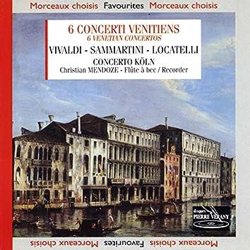 Vivaldi locatelli samartini : Six concerti venitiens