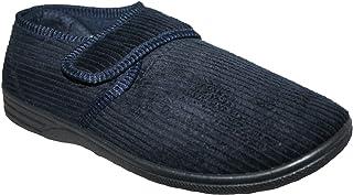 Northwest Territory Zapatos ortopédicos para diabéticos, de fácil cierre, de ajuste ancho, cierre de barra con correa para...