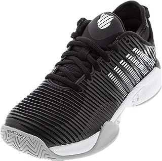 حذاء تنس حريمي Hypercourt Supreme من K-Swiss (أسود / أبيض / ارتفاع مرتفع، 6)