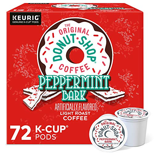 The Original Donut Shop Peppermint Bark, Single-Serve Keurig K-Cup Pods, Flavored Light Roast Coffee, 72 Count