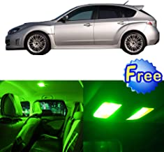 LED Interior Lights 8pcs Green Package Kit Accessories Replacement for 2004-2016 Subaru Impreza WRX STI