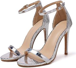 08655dbd Sandalias de tacón Alto de Boda Fiesta para Mujer, Mujeres Verano Zapatos  de tacón Sandalias