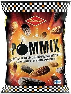 2 Bags x 100g of Halva Pommix - Original - Finnish - Salty Licorice - Salmiak - Caramel - Hard - Boiled - Candies - Sweets