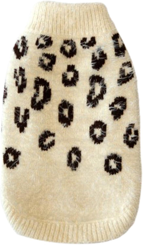 Hip Doggie Feathersoft Cheetah Print Dog Sweater (M) (Cream)
