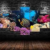 GMSM Leinwand Wandkunst, 5 StüCk Poster Great Barrier Reef