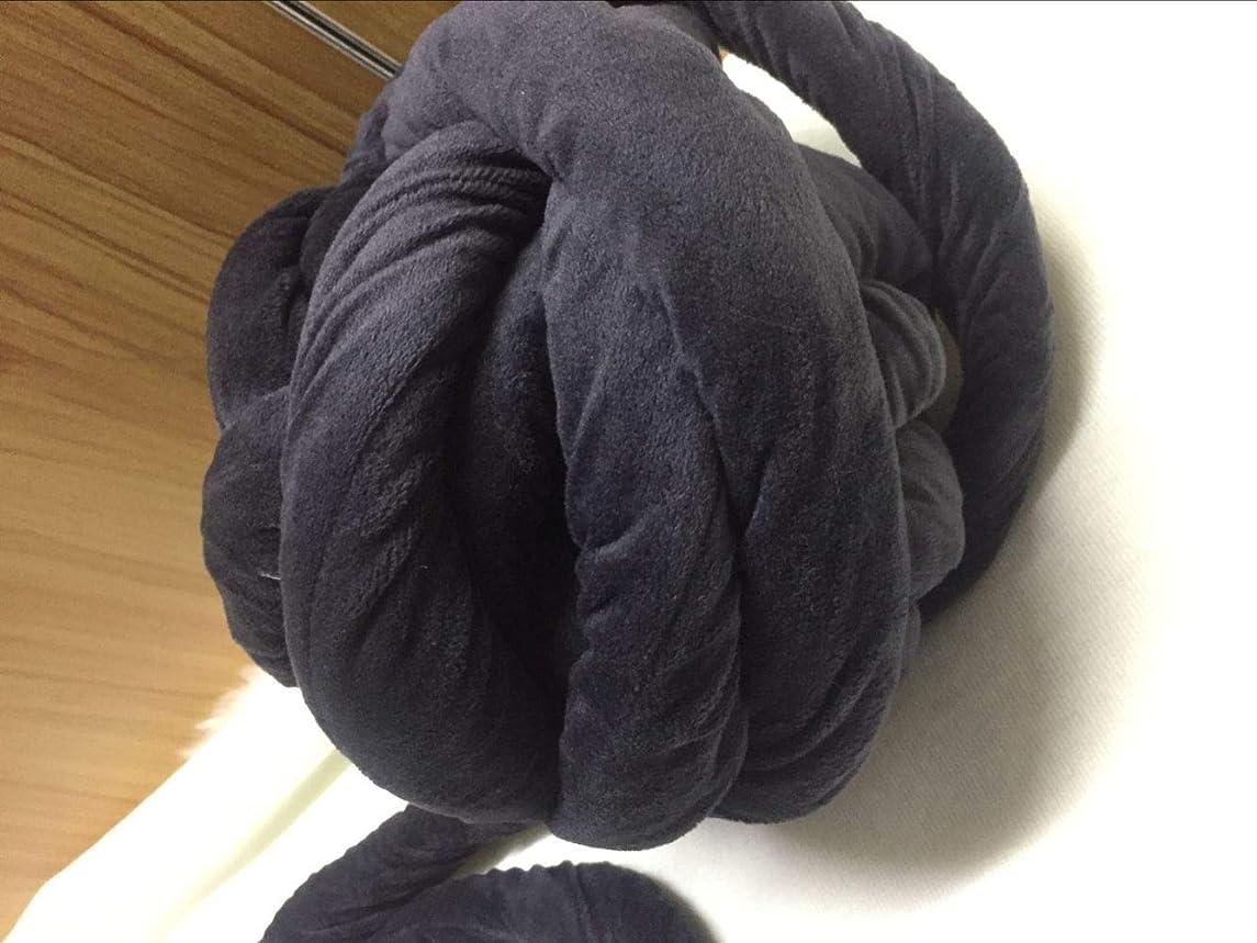 Super Softee Colorful Chunky Vegan Braided Yarn Macrame Cord, 20m Acrylic Bulky Thick Roving Washable Cozy Chunky Yarn for Arm Knitting DIY Handmade Blankets Knot Pillow Cushion (Dark Grey)