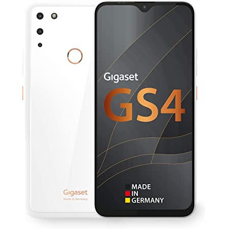 Gigaset Gs4 Smartphone Made In Germany Leistungsstarker 4300mah Akku Mit Schnellladefunktion 6 3 Zoll Full Hd V Notch Display Nfc 4gb Ram 64gb Interner Speicher Android 10 Pure White Elektronik