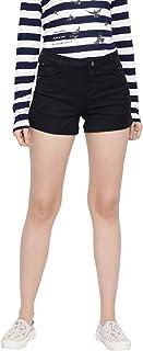 Crimsoune Club Black Women's Solid Shorts