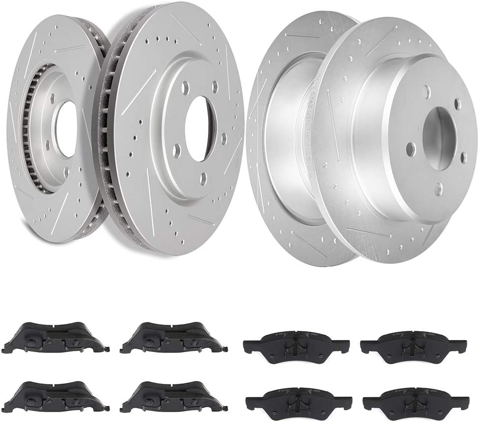 TUPARTS Brake 在庫あり Disc Rotors + CeR-amic for 返品不可 Pads Fits 20 Front Rear