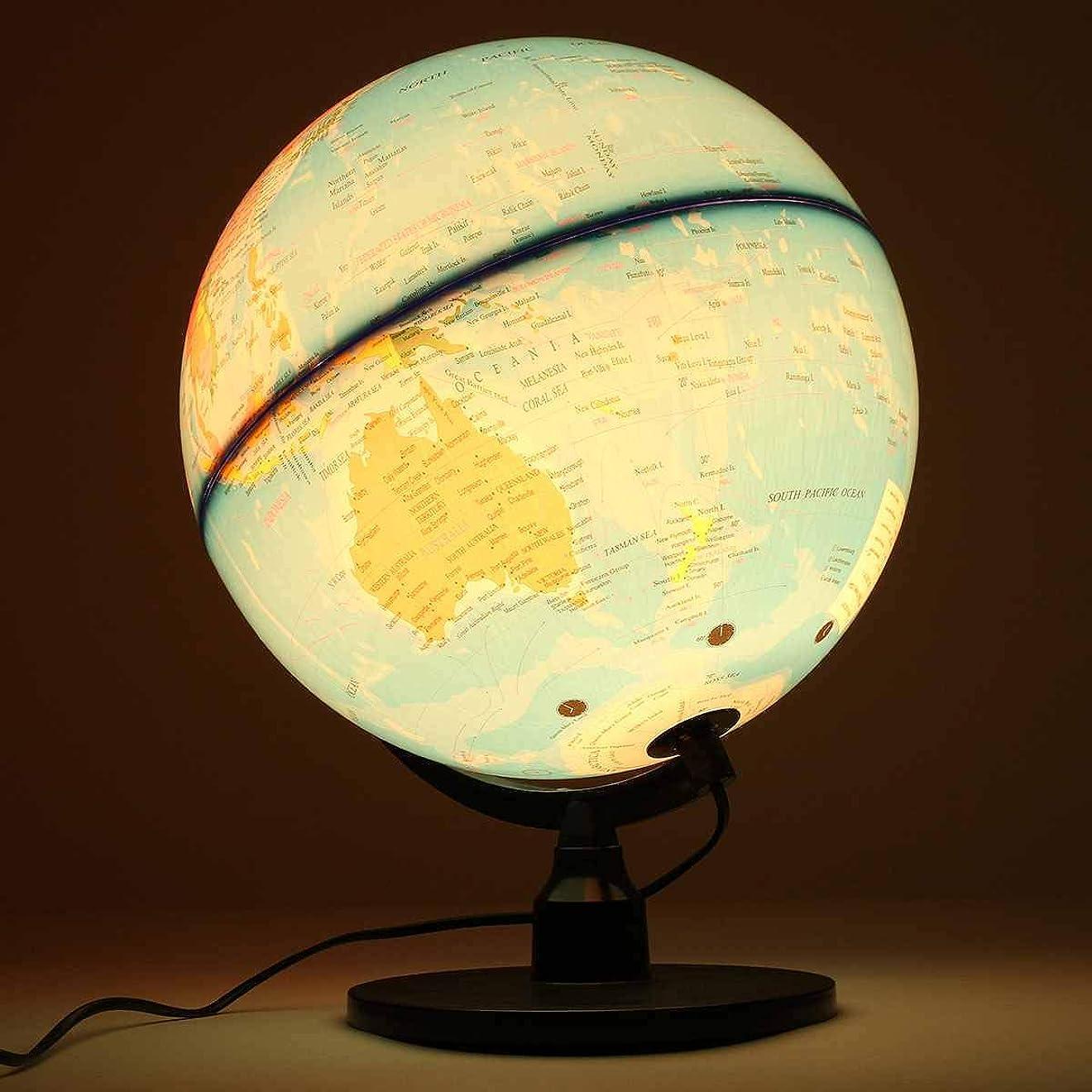 ネイティブ編集するラフ32CM World Earth Globe Map Geography Educational Toy With Stand Home Office Ideal Miniatures Decor Gift Office School Supplies