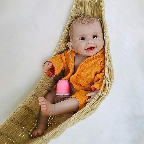 TERABITHIA 20 Zoll handgefertigt selten realistisch Aussehen echte Weiße Silikon Ganz  Reborn Babypuppen wasserdicht