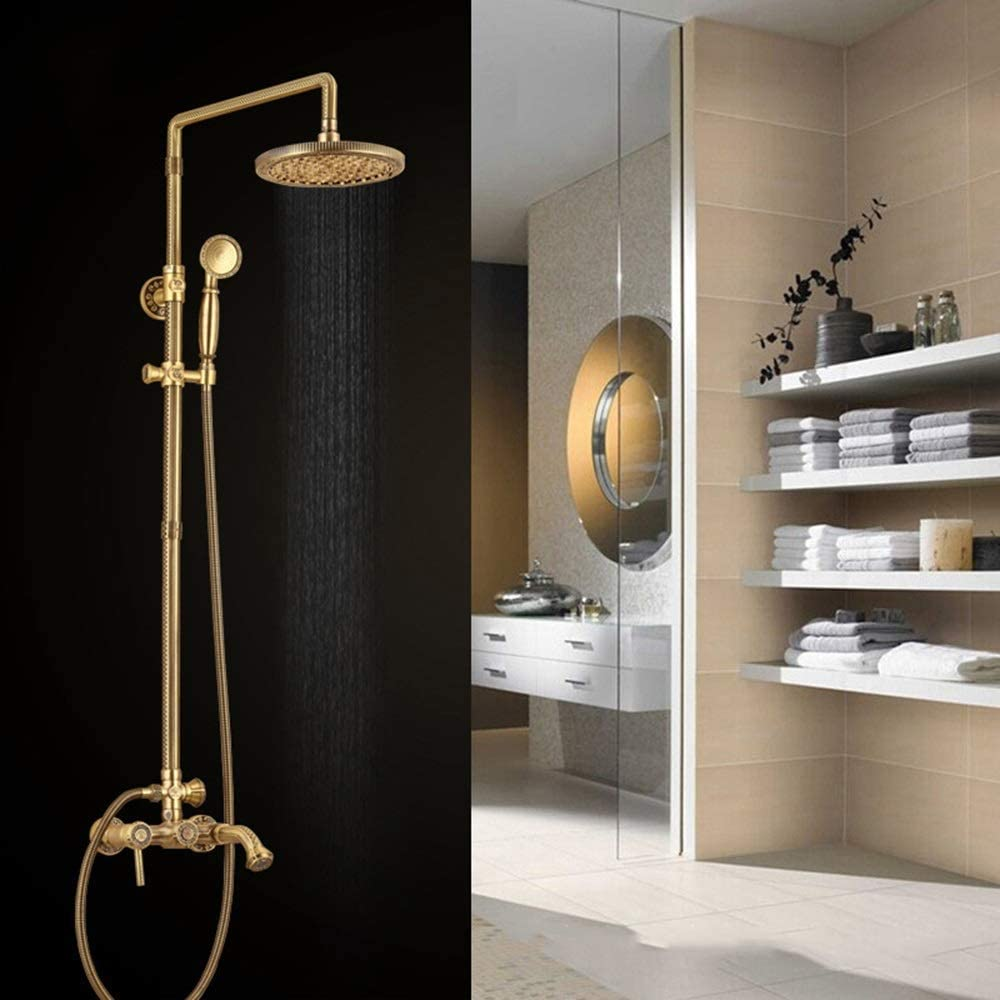GUOCAO Branded goods Shower System European Department store Bronze Ant Green All-Copper
