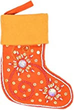 storeindya Diwali Gift Decoration Ornament Tree Hanging Decorative Stocking Bag Embroidered Beads Seasonal Decor Large (Or...
