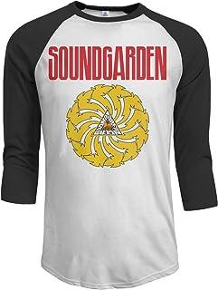 8bdc3fae JeremiahR Soundgarden Men's 3/4 Sleeve Raglan Baseball T Shirts Black