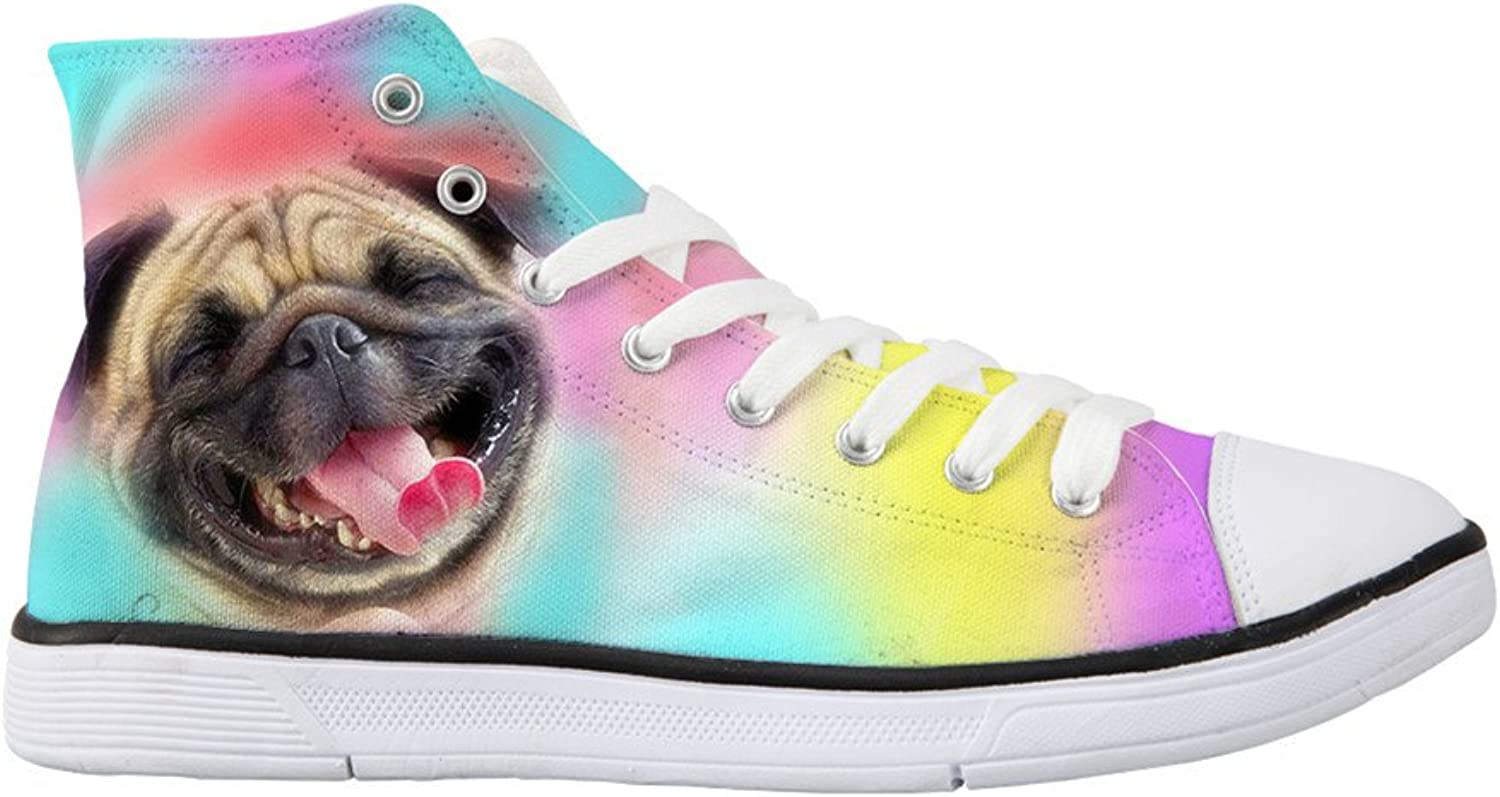 Showudesigns colorful Animal Cat Women's Classic High Top Canvas shoes Non-slip