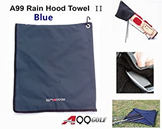 A99 Golf Rain Hood Towel Waterproof Golf Bag Cover Blue New