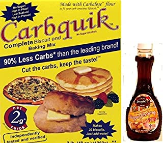 Carbquik Baking Mix and Joseph's Sugar Free Maple Syrup Bundle for Healthy Living