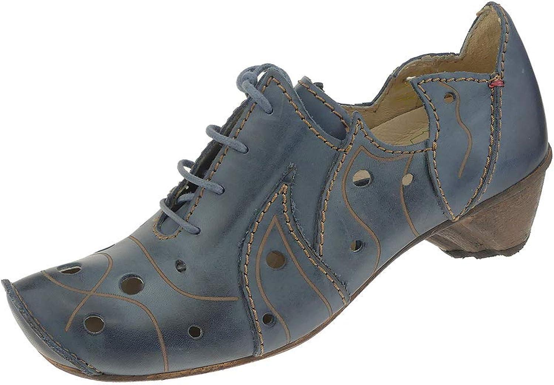 Rovers Damen Schnürhalbschuhe blau 57004