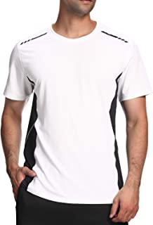 Men's Sports T-Shirt,Short Sleeve Gym top,Moisture Wicking Quick Dry Stretch Tee Breathable Clothing for Running Training ...