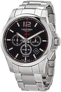 Longines - Conquest V.H.P. Perpetuo Reloj cronógrafo de cuarzo con esfera negra para hombre L37274566
