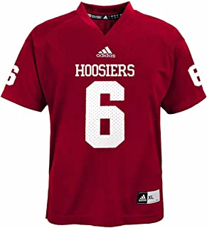 adidas Indiana Hoosiers NCAA Red Official Home #6 Replica Football Jersey for Youth