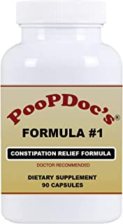 PoopDoc's Constipation Relief Formula #1 (Small Bottle - 90 Cap)