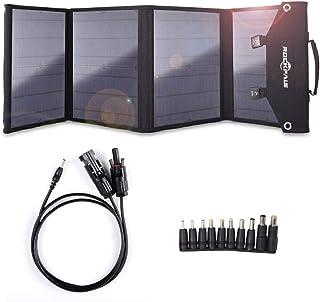 Rockpals ソーラーパネル 100W 23%高変換効率 10種類変換プラグ搭載 QC3.0 折りたたみ式 スマホ ノートパソコン ポータブル電源 充電可能