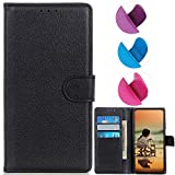 YOUKIT Wallet Case for LG Stylo 6, Premium PU Leather Case Flip Folio Cover with Card Slots, Magnetic Closure, Kickstand (Shockproof TPU Interior Case) for LG Stylo 6 (Black)