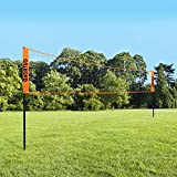 Outroad Portable Volleyball Net Set with Volleyball, Easy Setup Nylon Sports Net with Poles
