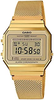 Casio Retro Watch A700WEMG-9AEF Unisex Gold Chronometer