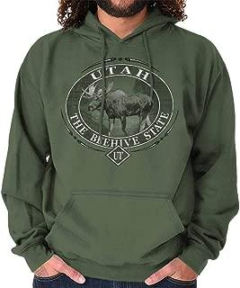 Classic Teaze Utah Beehive State Mountain Moose UT Gift Hoodie
