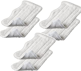 (1) - Amariver Microfiber Replacement Pads for Shark Steam Euro-Pro Mop (Set of 6)