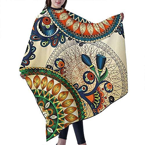 Kapsel Schort Bloemen Arabische Etnische Wind Pauw Veer Cape Cover Haar Dressing Professionele Kapper Supplies Gereedschap Kappers Mantel Haar Jurk Geverfde Kapsel Schort Cape