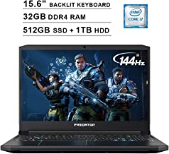 Acer 2019 Predator Helios 300 15.6 Inch FHD Gaming Laptop (9th Gen Intel 6-Core i7-9750H up to 4.5 GHz, 32GB RAM, 512GB PCIe SSD + 1TB HDD, Backlit Keyboard, GTX 1660 Ti, WiFi, Bluetooth, Win 10)