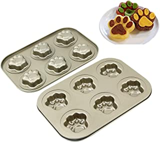 Cake Pans 10 inch Cat Claws Shape Baking Tray Heavy Duty Carbon Steel Cake Baking Tray Baking Tray Organizers Kitchen Supplies Bakeware Baking Trays for Oven Non Stick Baking Pans for Toaster - Gold