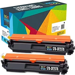 Do it Wiser Compatible Toner Cartridge Replacement for HP 17A CF217A Laserjet Pro M102w MFP M130fw M130nw M130fn | with Chip (Black, 2-Pack)