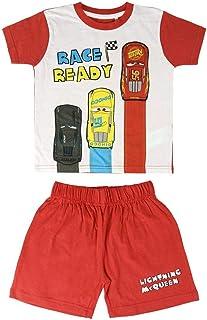 Cerdá Pijama Niño de Rayo McQueen de Disney Cars 3 - Camiseta + Pantalon de Algodón