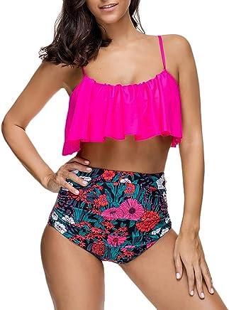 Darringls Costume da Bagno Donna, Bikini a Triangolo Costumi Interi Donna Costumi Donna Mare Due Pezzi Taglie Forti Trikini Push Up Estate 2019 Summer Beach Bikini Costumi da Bagno - Trova i prezzi più bassi