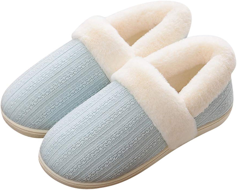 Navoku Women's Fuzzy Memory Foam Indoor House Bootie Slippers