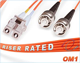 FiberCablesDirect - 6M OM1 LC ST Fiber Patch Cable   1Gb Duplex 62.5/125 LC to ST Multimode Jumper 6 Meter (19.68ft)   Length Options: 0.5M - 300M   1gb 10gb lc-st mmf UPC sfp 1gbase mmd dx PVC ofnr