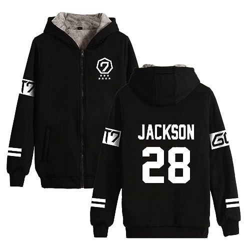 KPOP GOT7 Winter Jacket Thicken Sweater Jackson Hoodie Unisex Sweatershirt