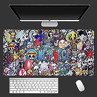 Skjfdmiy ワンピース:モンキーD.ルフィ、マウスパッドゲーム、マウスパッドアニメマウスパッド大型マウスマットXXLデスクマットマウスカーペットプレイマットコンピューターゲームマウスパッド (Color : 3mm, Size : 800*300mm)